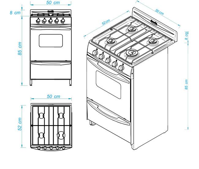 Cocina escorial palace cristal elite for Medidas de mobiliario de cocina